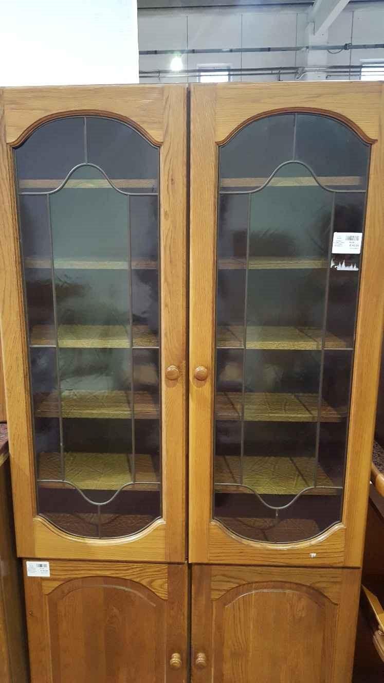 catanzaro pensile vetrina cucina 2 ante in legno massello ... - Vetrina Soggiorno Usata 2