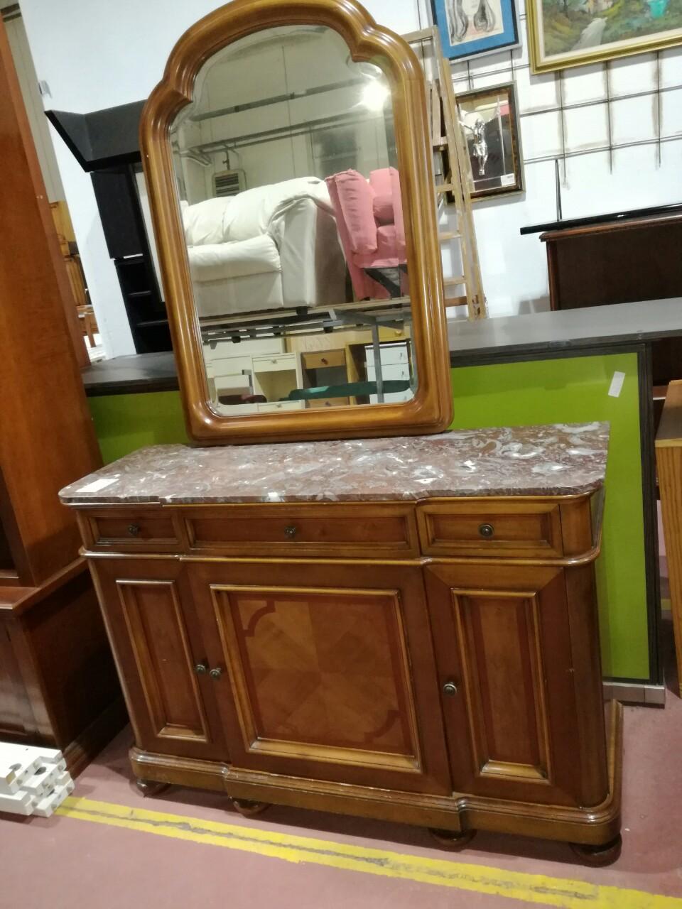 Catanzaro specchio grande con cornice dorata (alt. cm 184 x larghg ...