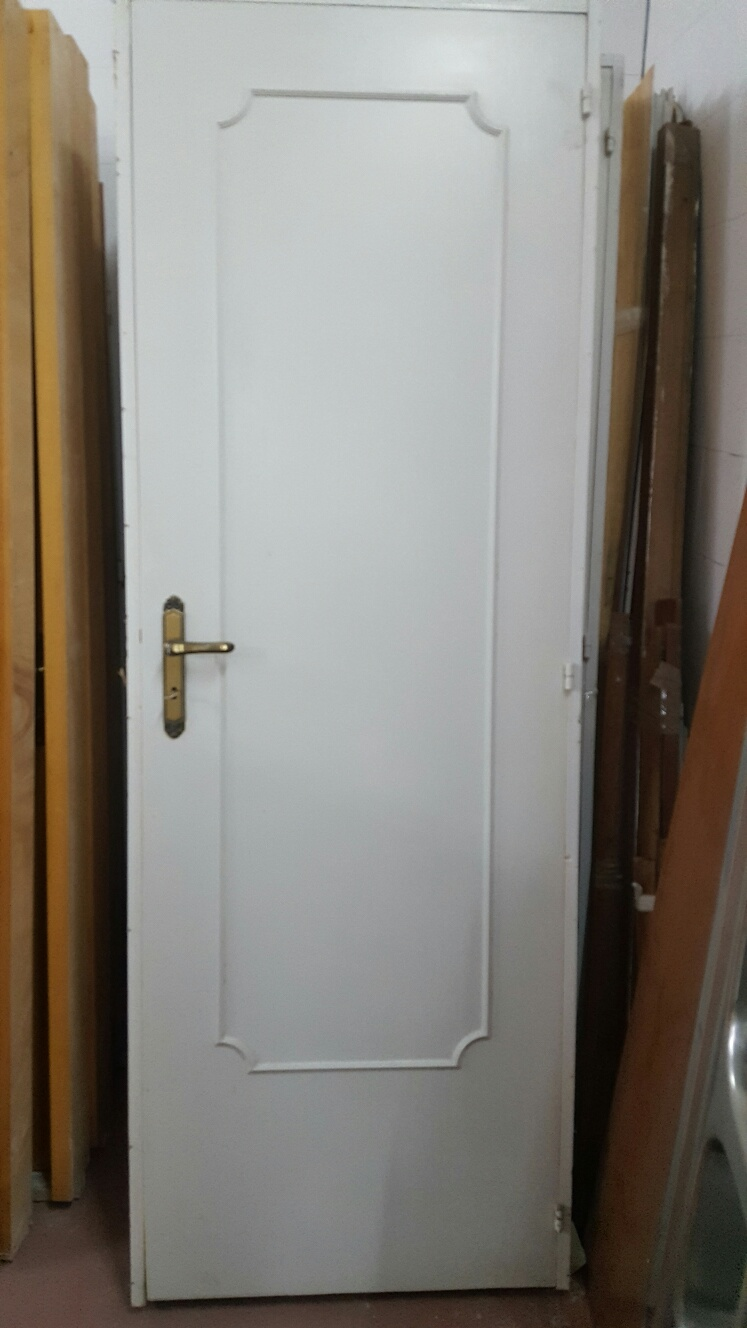 Catanzaro porta da interno colore bianca completa di maniglia lung cm 80 x alt cm 212 telaio - Porta da interno a libro ...