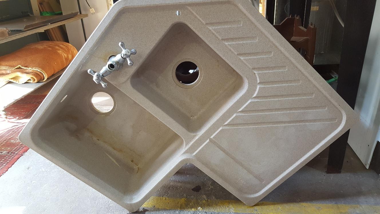 Catanzaro Lavello Cucina In Acciaio Inox 2 Vasche Gocciolatoio Cm 120 Mercatino Dell 39 Usato