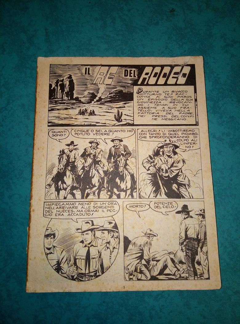 FUMETTO RARO TEX IL RE DEL RODEO N. 84