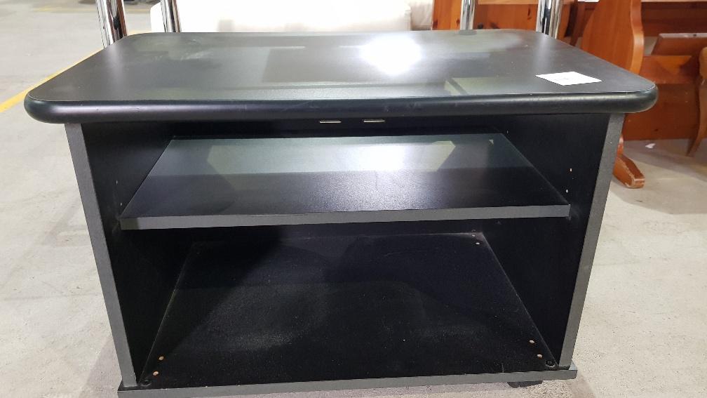 Catanzaro tavolino porta tv wenge 39 con inserti in acciaio l cm 100 x p cm 50 x h cm 50 - Porta tv con rotelle ...