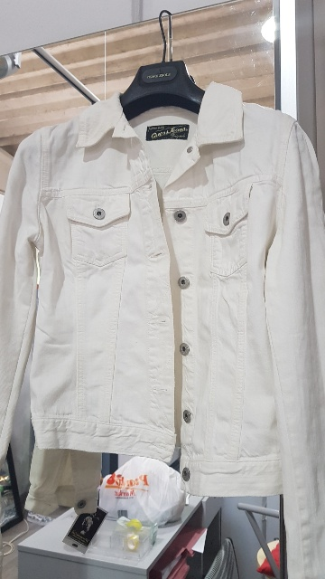 GIUBBOTTO JEANS BIANCO GUESS TG.L