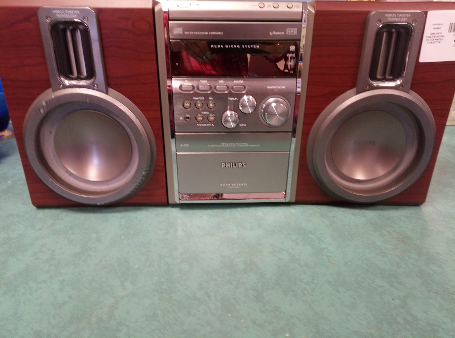 MINI HI-FI PHILIPS MCM8-22 (CD-RADIO-CASSETTA)
