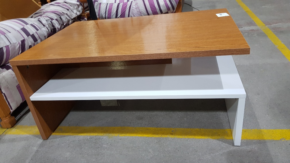 Catanzaro tavolino salotto colore rovere e bianco l cm 90 for Mobili 90 x 60