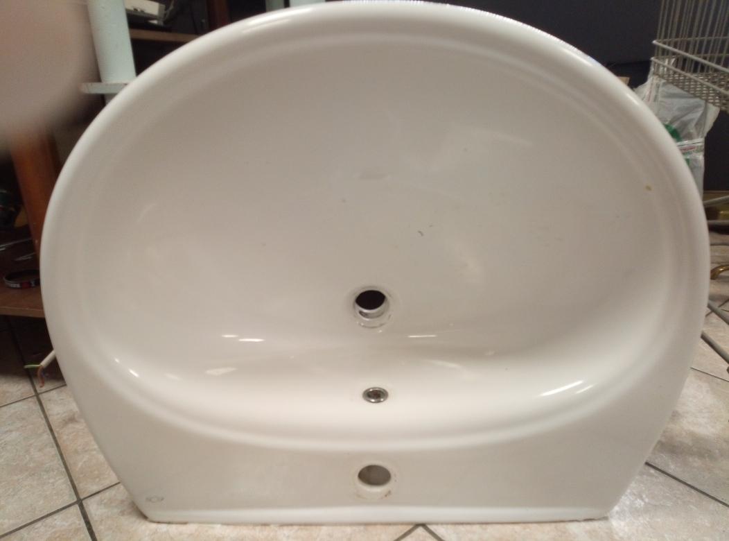 Lavandino Bagno Con Piede catanzaro lavabo bagno in ceramica eos (l cm 65 x p cm 54