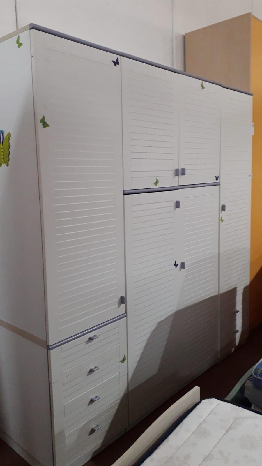 Ante A Persiana catanzaro armadio 4 ante a persiana + cassettiera