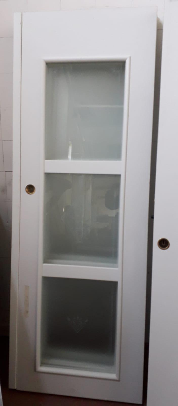 Porta Scrigno 60 Cm catanzaro porta da interno a scrigno colore bianco con