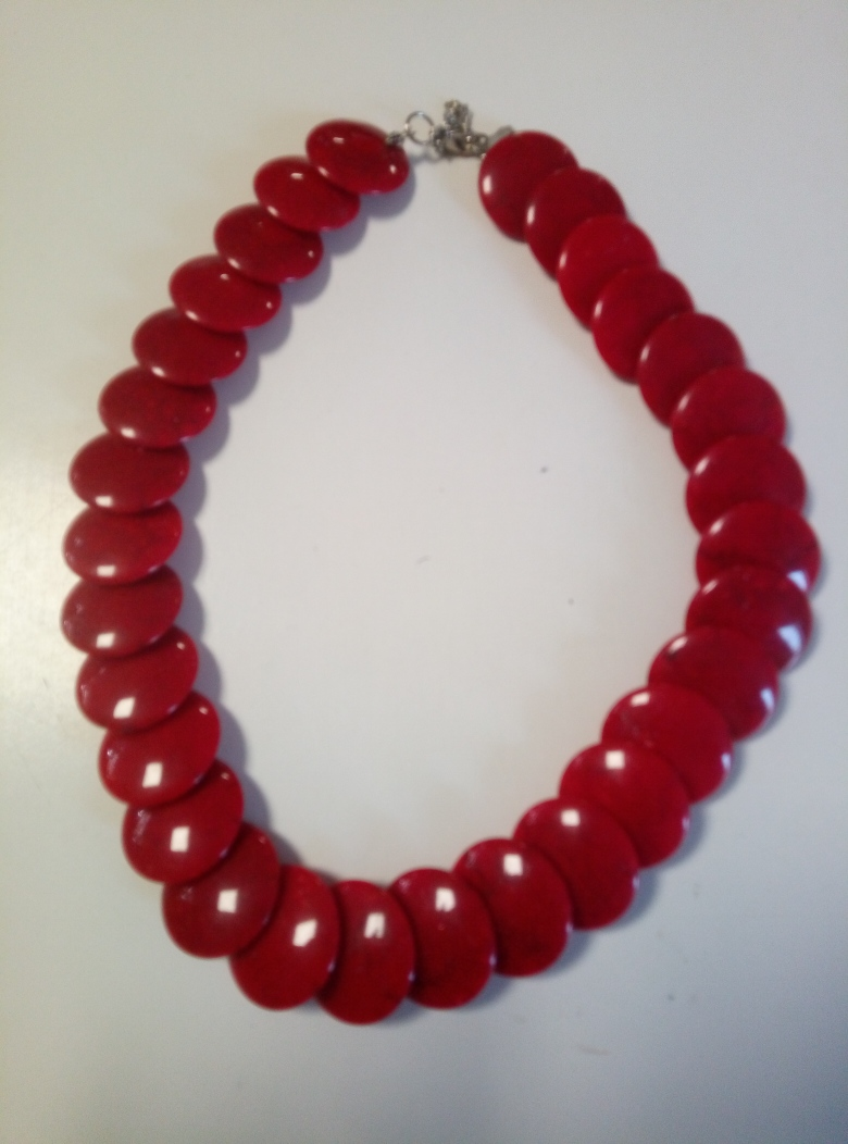 COLLANA DONNA CON PERLINE ROSSA